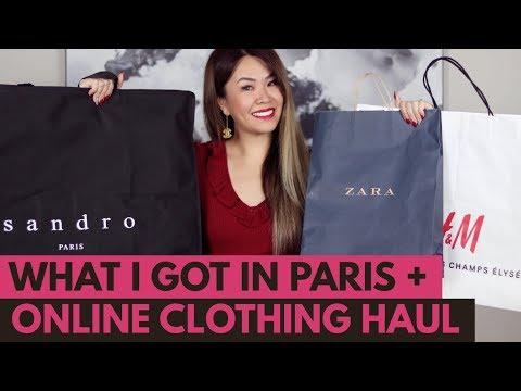 HUGE TRY-ON CLOTHING HAUL - PARIS & ONLINE   ZARA, H&M, SANDRO, ZAFUL & ASOS