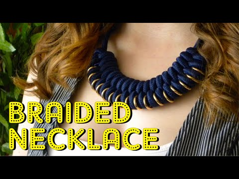 How to make a PARACORD BRAIDED NECKLACE