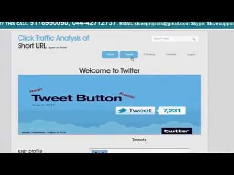 Click traffic analysis of short URL spam on Twitter