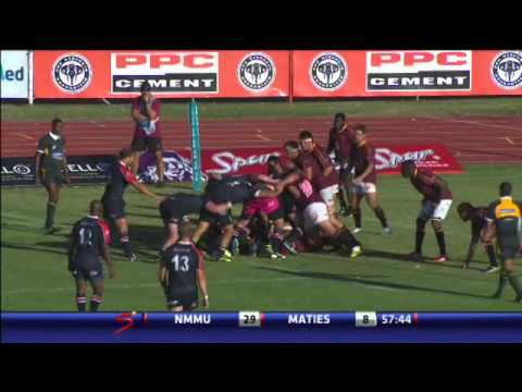Varsity Cup 2014 highlights, Round 1 NMMU vs Maties
