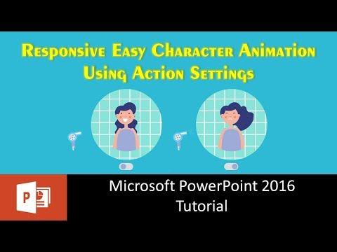 Responsive Easy Character Animation using Action Settings in PowerPoint 2016