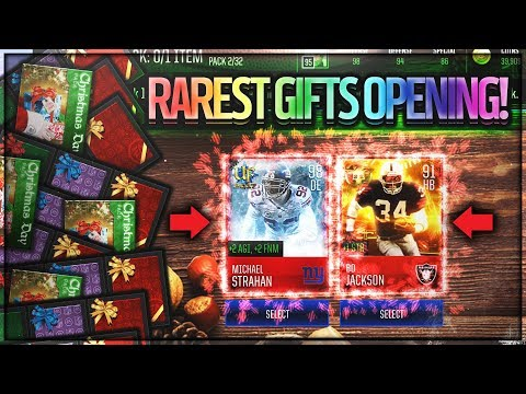 HOLY CRAP! RAREST GIFTS in MADDEN MOBILE!! 30 PRESENTS & CHRISTMAS BUNDLE! Madden Mobile 18