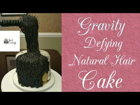 Hair Care Natural Hair Cake Gravity Defying Cake -