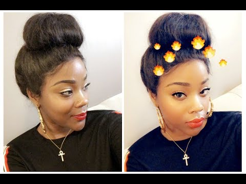 SLEEK HIGH BUN ON 360 LACE WIG| FT. BESTLACEWIGS| HOT WEATHER APPROVED| NO HAIR LEFT OUT