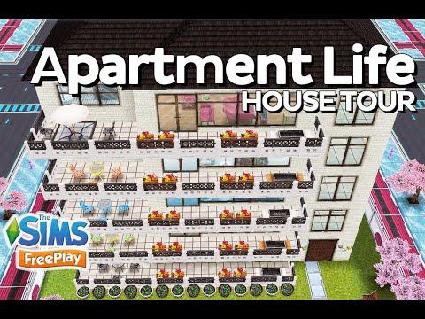 The Sims Freeplay - Apartment Life (5-story building) (Original design)