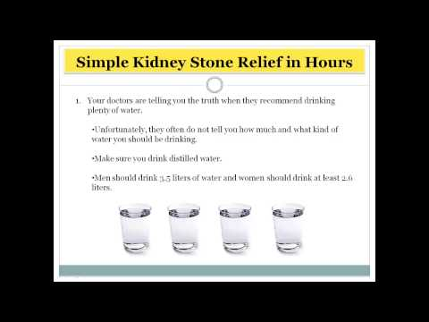 How to pass a Kidney Stone within 1 day