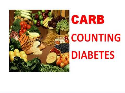 Carbohydrate Counting  - For Type 1 or type 2 Diabetes Meal Planning