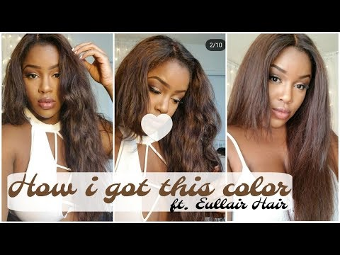 HOW TO | CHOCOLATE BROWN HAIR COLOR FT. EULLAIR HAIR