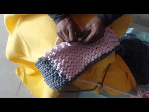 HOW TO MAKE A HAND KNITTED POUF