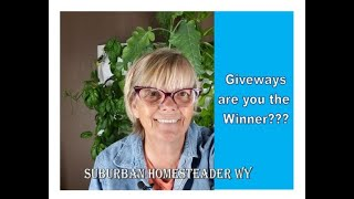 Giveaway, Are You the Winner????