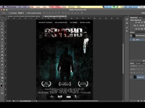 How to make a MOVIE POSTER (Photoshop CS6 SpeedArt)
