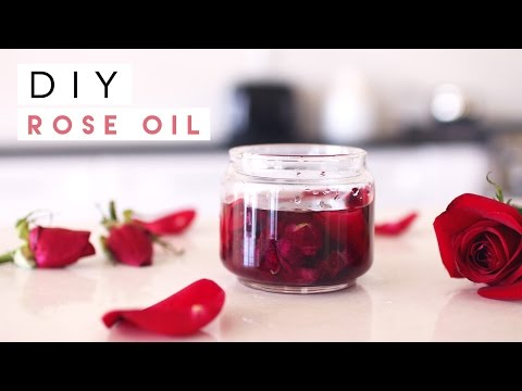 DIY Rose Oil for Skin, Hair, Nails