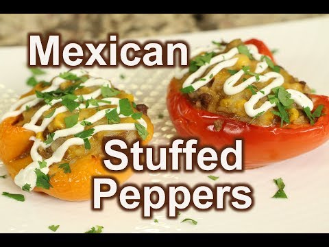 Homemade Mexican Stuffed Bell Peppers | Rockin Robin Cooks