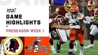 Redskins vs. Browns Preseason Week 1 Highlights   NFL 2019