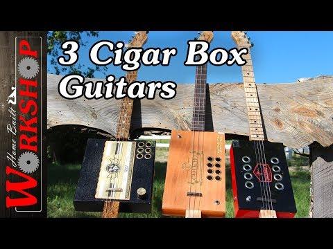 Making 3 Cigar Box Guitars