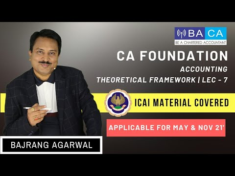Lecture 7 | Paper 1 | CA Foundation | Accounting | Chapter 1