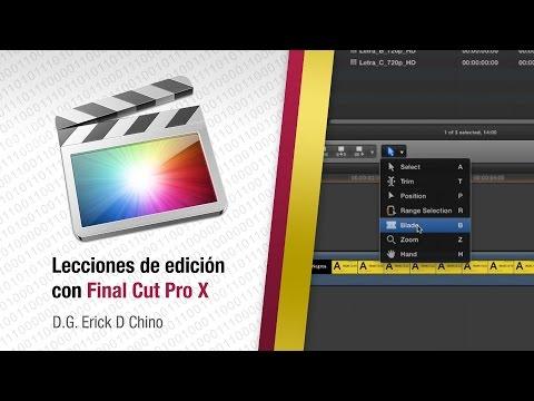Final Cut Pro X - Herramienta Blade