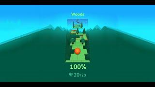 Rolling Sky Edit - Woods (Forest v3) 100% 20/20 gems 3/3 crowns