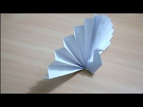 How to make a paper peacock - easy tutorial
