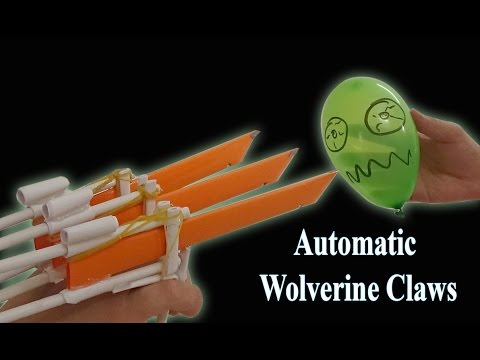 Make Logan X-Men Wolverine Automatic Claws from Paper - Homemade paper Weapon Easy 🏹