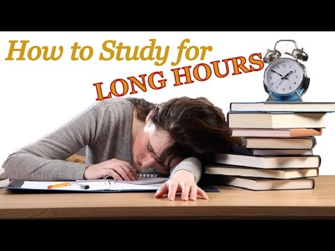 How to study for long Hours | 5 Tips for Success in Studies