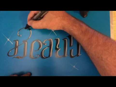 Create beauty ambigram