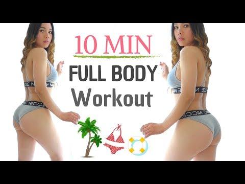 10 MIN Bikini Body Workout Routine » Beginners full body workout at home   No Equipment   #1