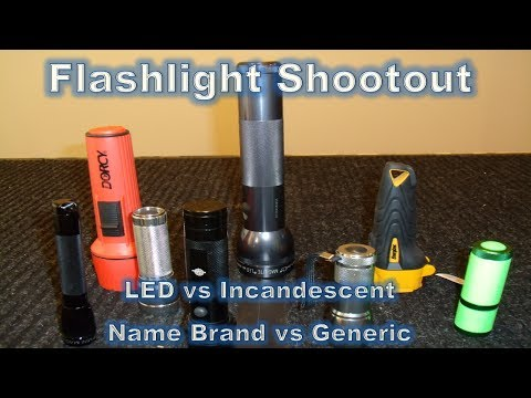 Flashlight Shootout Part 4/4 - Battery Life, Efficiency, Intensity, Conclusion