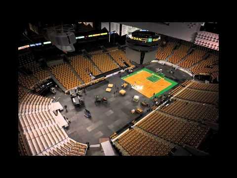 Boston Bruins to Boston Celtics Changeover Time Lapse