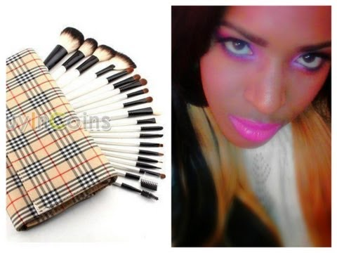 ★BRUSH SET REVIEW:EYEBROWLIP,EYE SHADOW, FASHION & MAKEUP BRUSH SET/ ESSENTIAL MAKEUP KIT
