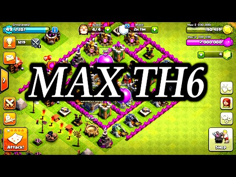Clash Of Clans | MAX TOWN HALL 6 BASE