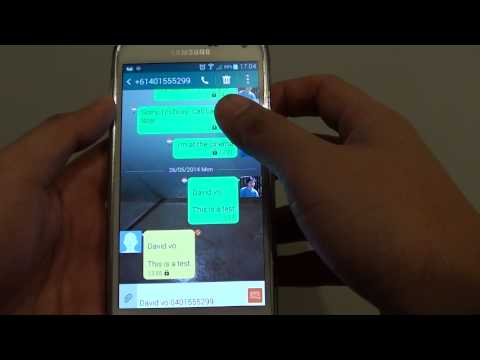 Samsung Galaxy S5: How to Lock Multiple Text Messages