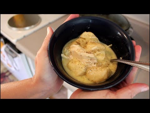 Easy Crockpot Chicken & Dumplings!