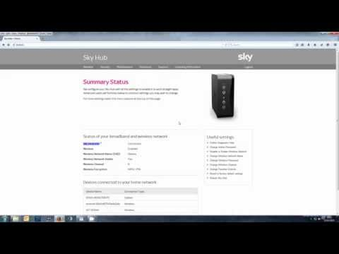 Extracting Username & password from SKY HUB SR102