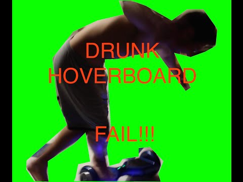 RIDING SEGWAY HOVERBOARD SCOOTER DRUNK FAIL!!!