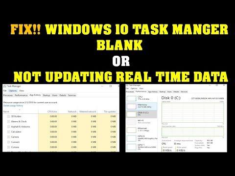 Fix Windows 10 Task Manger not updating