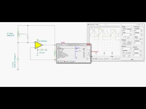 Triangular and Square Wave Generator Varying Amplitude and Frequency