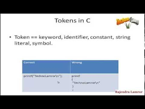 C Tutorial 4 : Syntax and Symbol in c (HIndi)