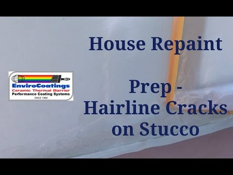 Stucco and Siding House - Repairing Hairline Cracks on Stucco