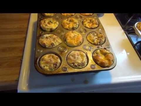 Low carb breakfast egg muffins - DELICIOUS
