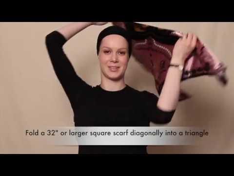Easy Silk Square Headscarf Technique