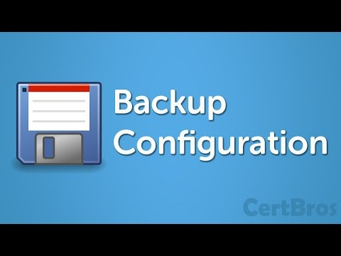 How to Backup Cisco Configuration