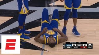 Kevin Durant rolls ankle late in Warriors