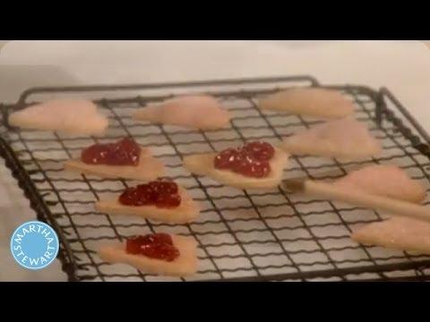 Heart-Shaped Cream Cookies for Valentine's Day - Martha Stewart
