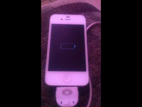 Iphone 4 stuck on charging .power off. Won't turn on.