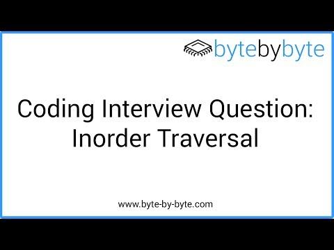 Interview Question: Inorder Traversal