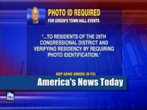 Obama Democrat Gene Green (Texas) Opposes Photo ID to Vote But Requires Photo ID for Town Halls