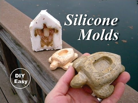 How to make Silicone molds for cement concrete wax or soap