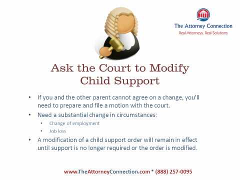 How to Change Child Support