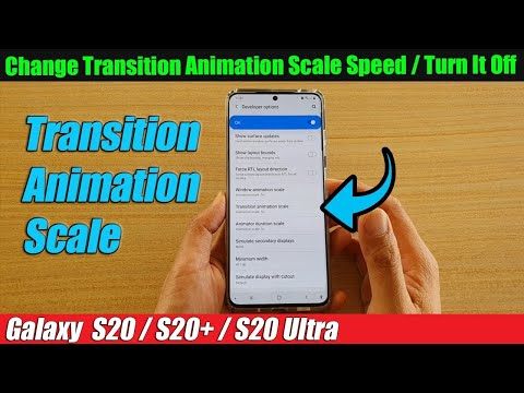 How to set Transition Animation scale in developer option